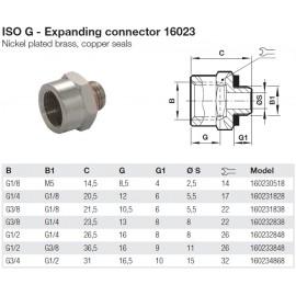 16023 Bővítő / Toldó-hosszabbító / Szűkítő