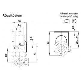Rögzítőelem B07/R07/V07/L07 típusokhoz